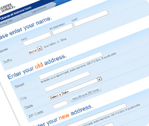 Changing Your Address Online