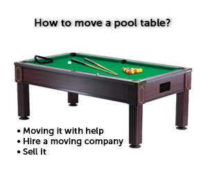 How To Move A Pool Table Moving Guru Guide - Best place to sell pool table