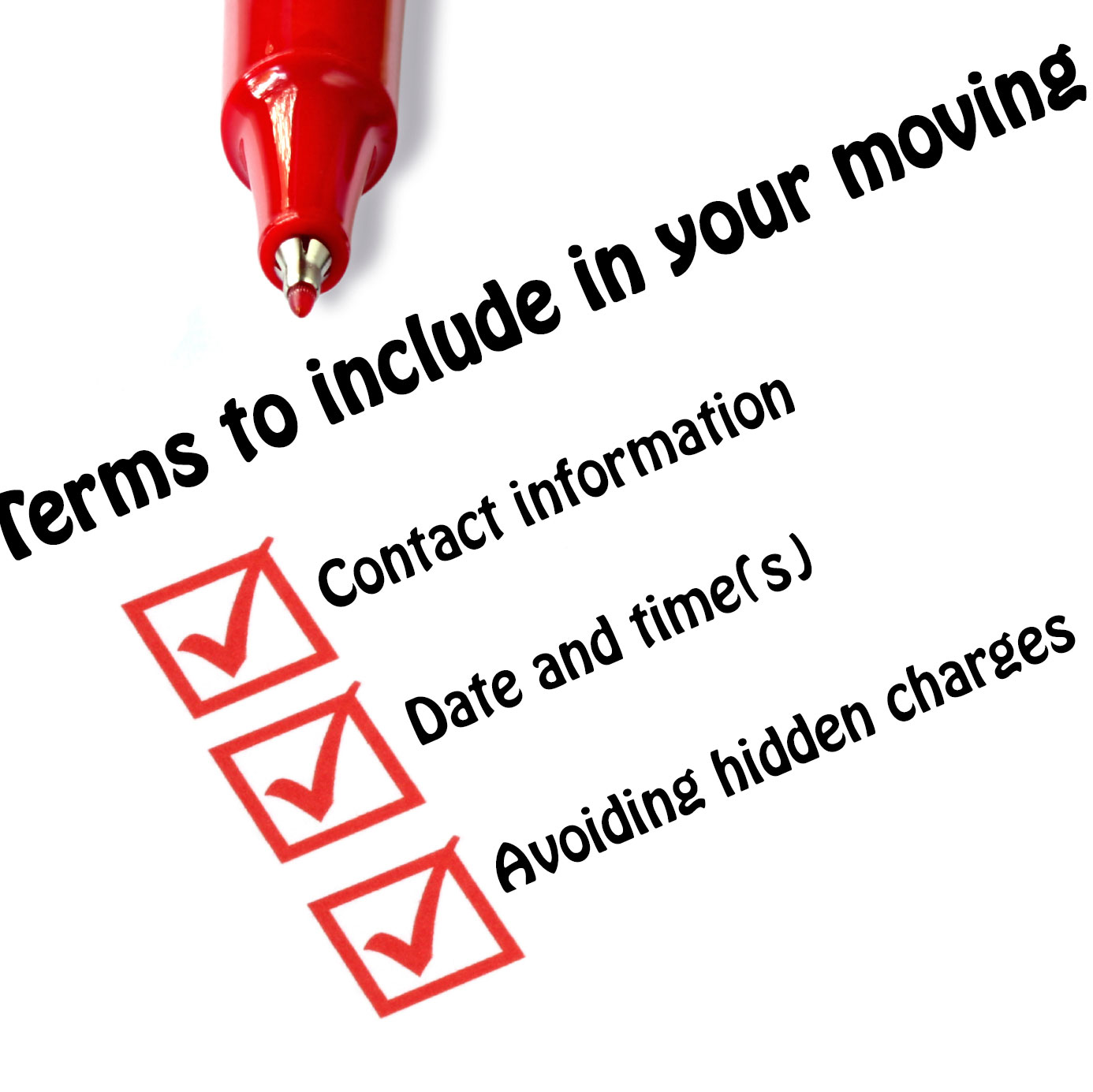 Terms to Include in Your Moving Contract