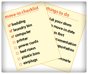 Dorm Move-In Checklist